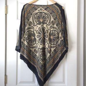 Michael Kors  silk poncho